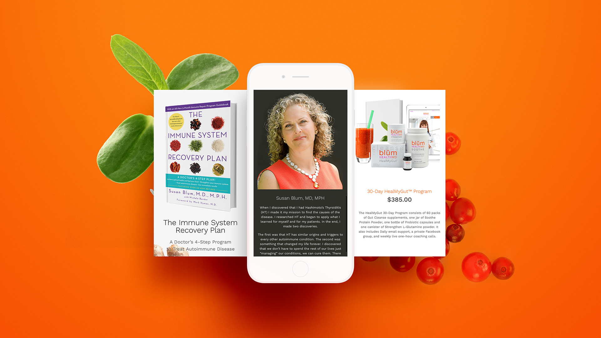Blum Health MD Website Design iPhone