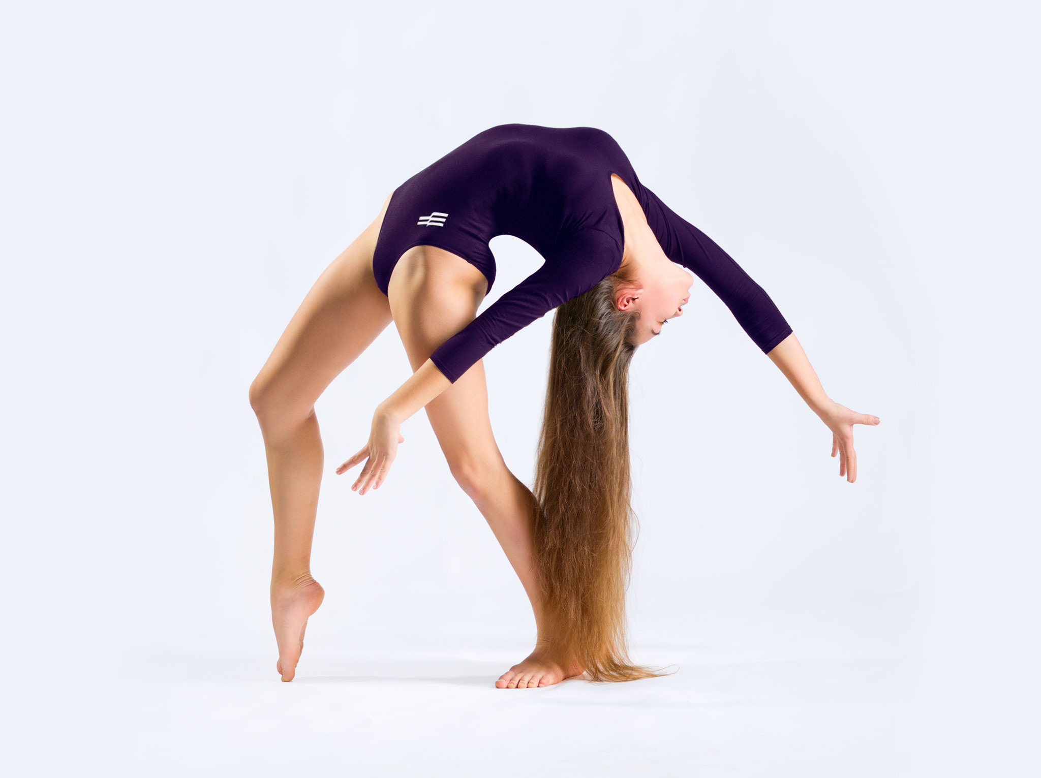 Égal Dance Wear photo of branded leotard on female model