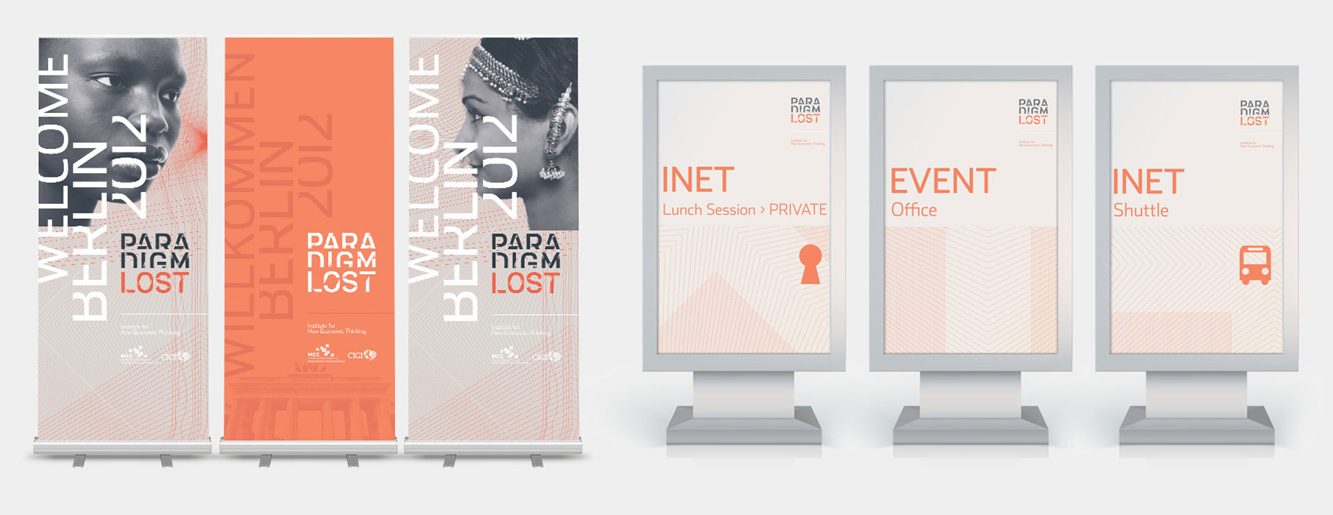 Paradigm Lost I.N.E.T. Event marketing posters