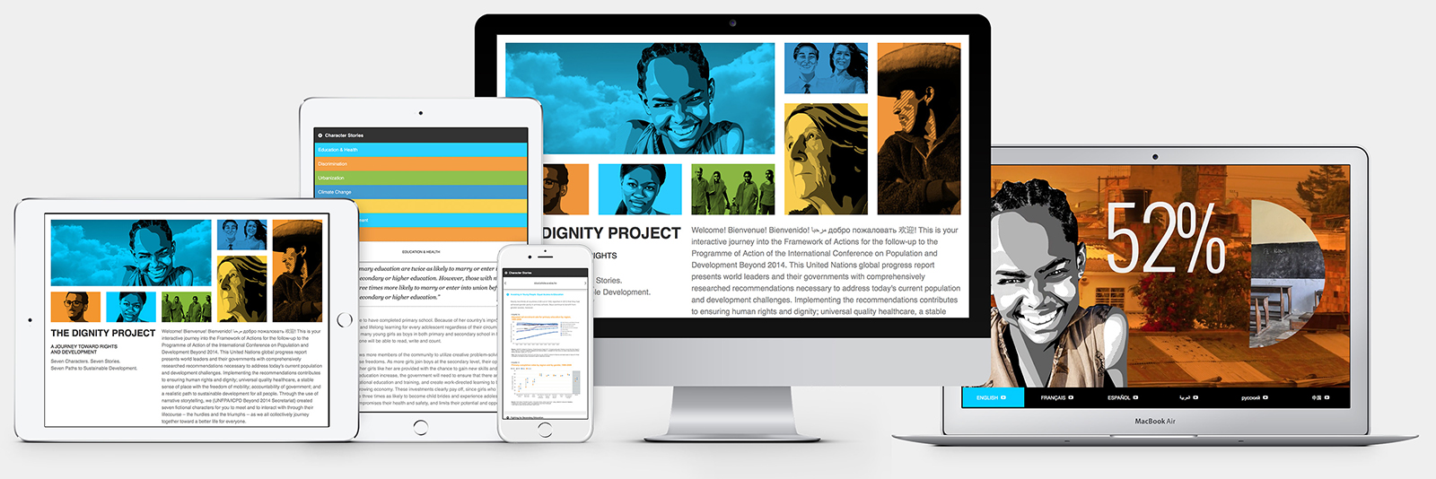 Responsive website design for I.C.P.D. U.N.F.P.A The Dignity Project