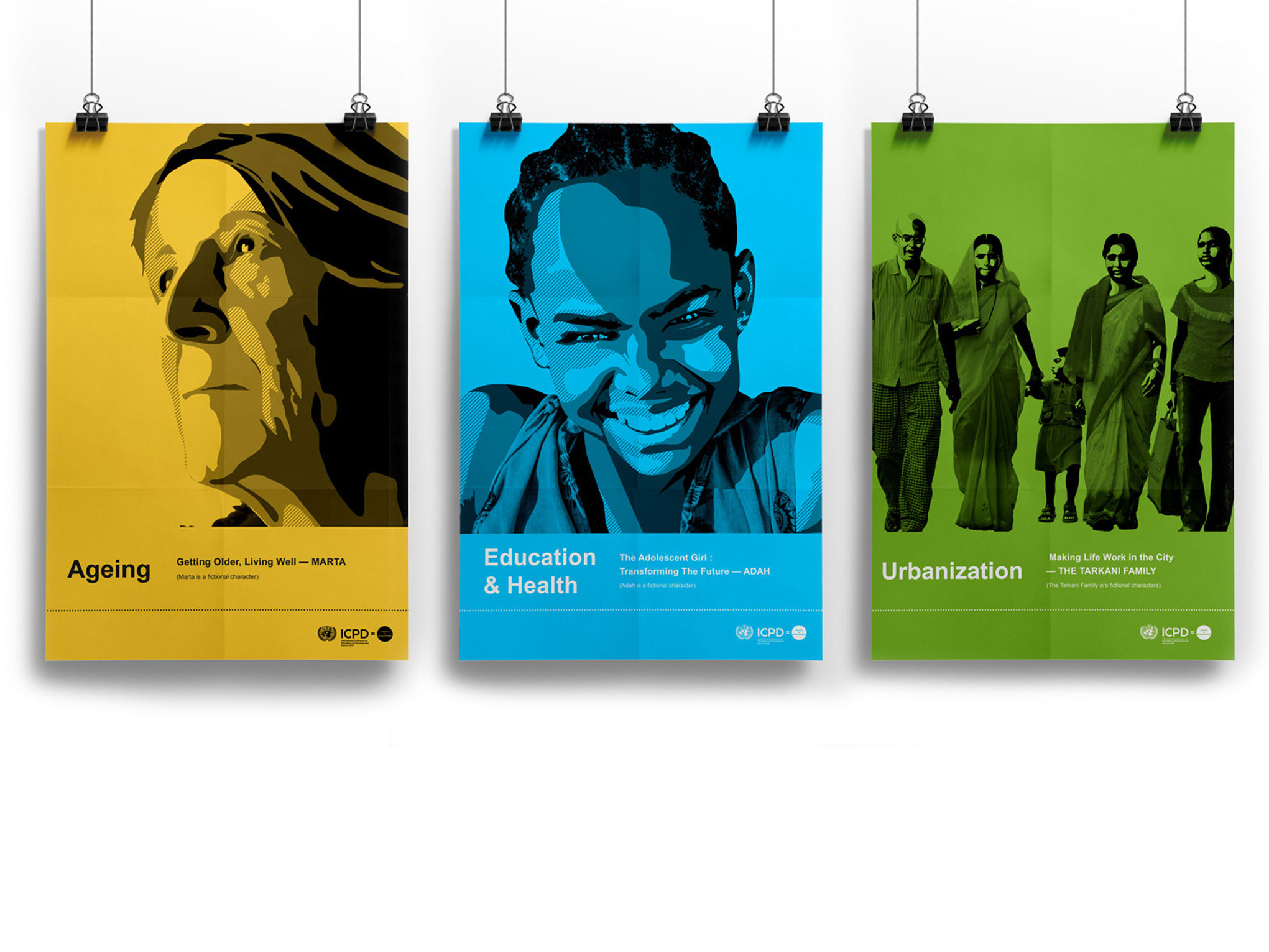 Printed Posters for I.C.P.D. U.N.F.P.A The Dignity Project
