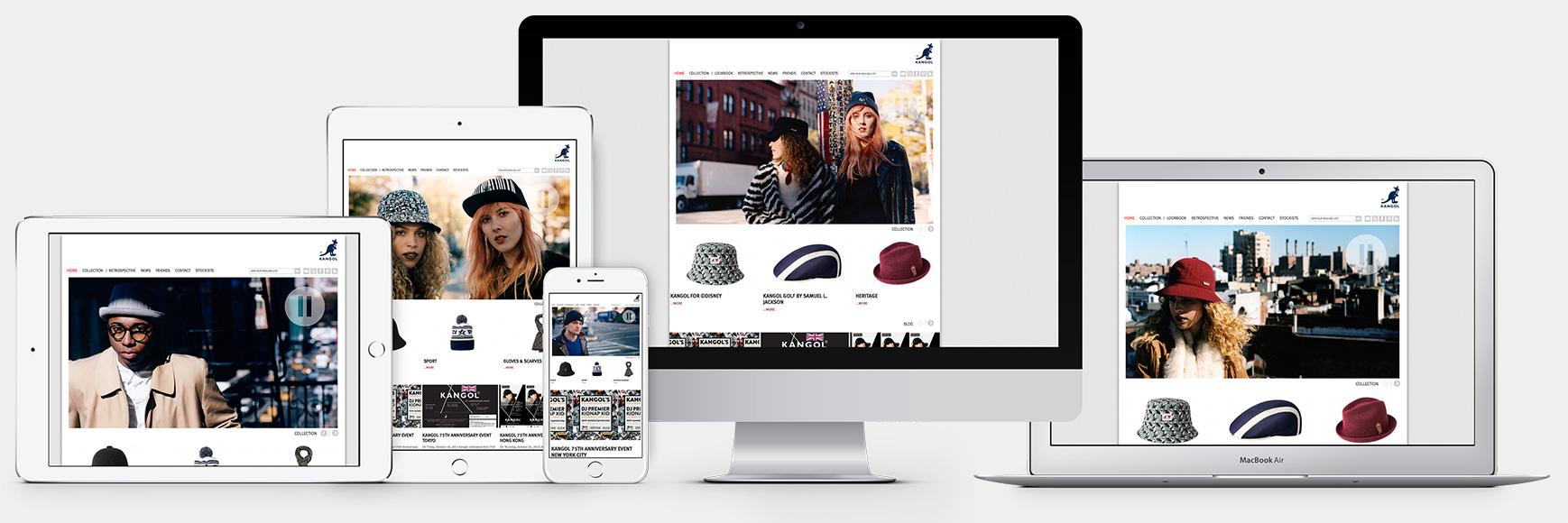 Kangol responsive web design