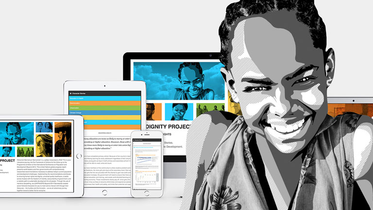 UNFPA Website Design and Illustration