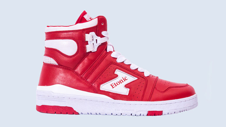 Etonic Hakeen Olajuwon Red High Top Sneaker Photo