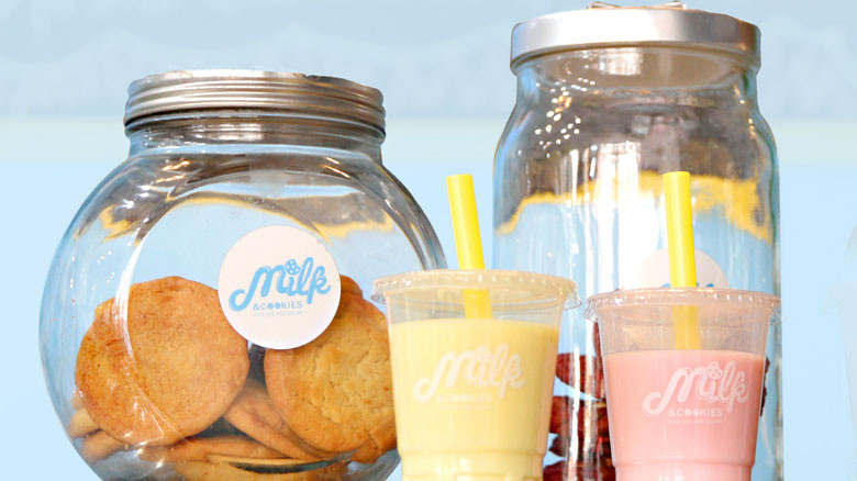 Milk and Cookies Kids Spa Cookie Jars and Milkshakes