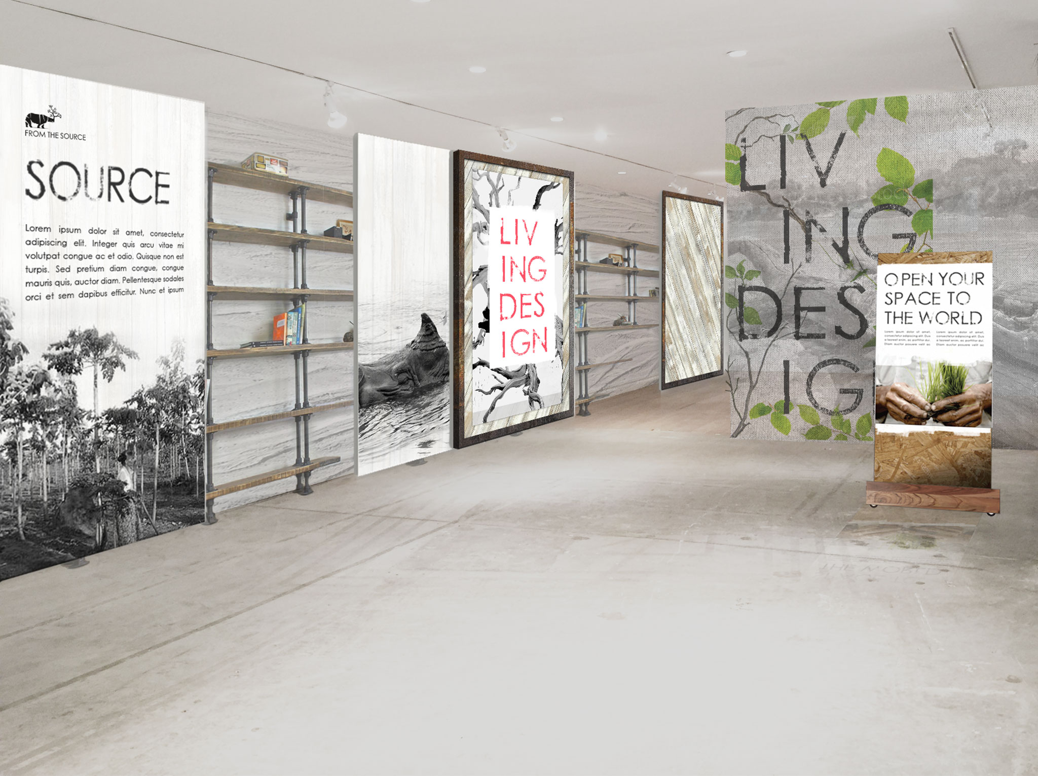 Spil Creative interior design for From The Source