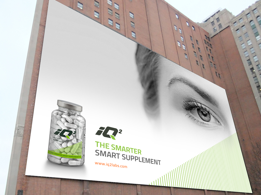 iQ2 Nootropics Outdoor Billboard