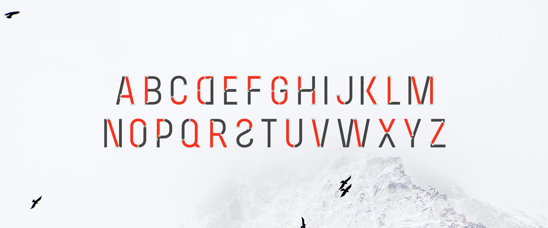 Spil Creative Architext Font Alphabet