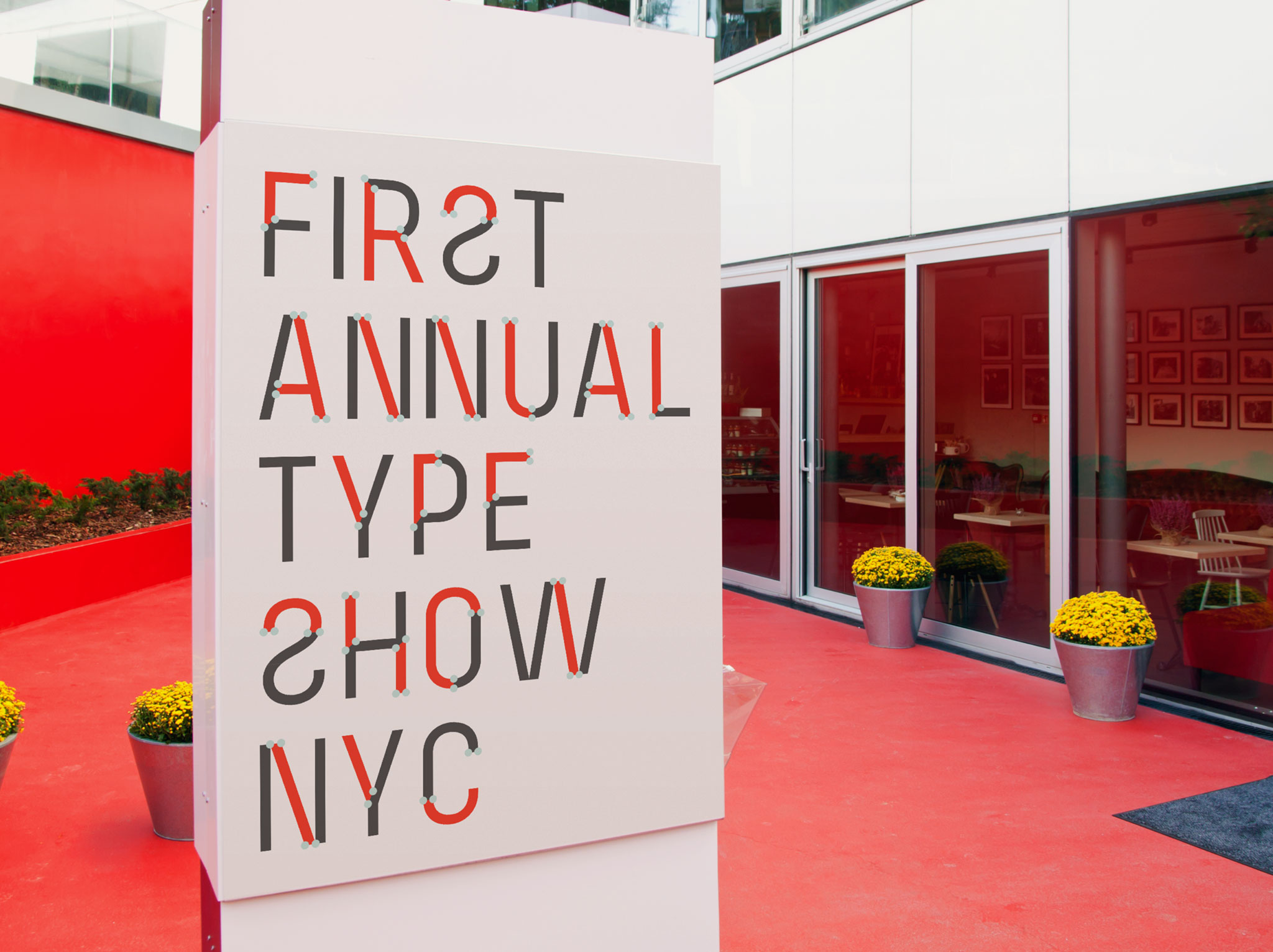 Spil Creative Architext font design on signage